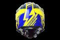 Casco moto cross Just1 J32 Rave blu giallo