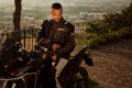 Giacca moto touring Befast VICTORY CE 3 strati Nero Grigio chiaro