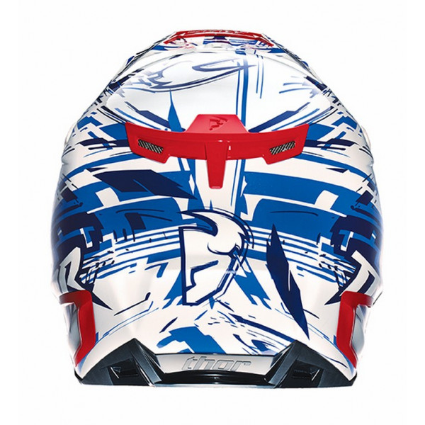 Casco Cross Thor Verge Twist blu