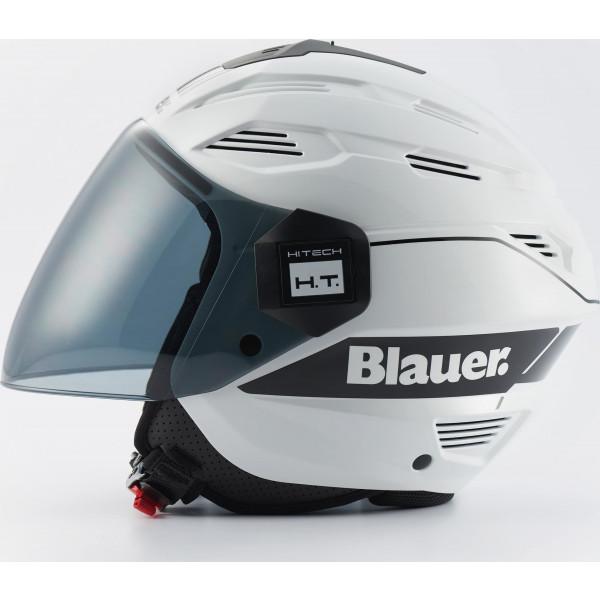 Casco jet Blauer BRAT Bianco Nero