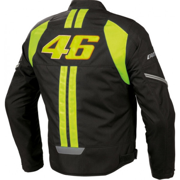 pretty nice 8cab4 ee1b2 Giacca moto Dainese VR46 Tex nero-giallo