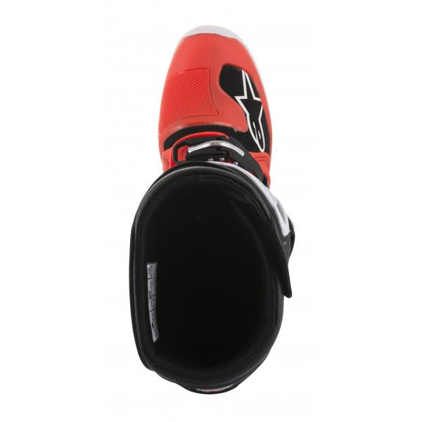 Stivali cross Alpinestars Tech 7 rosso fluo ciano grigio nero