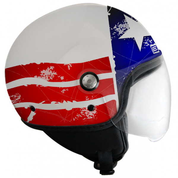 Casco jet Origine Mio Stars and Stripes Bianco