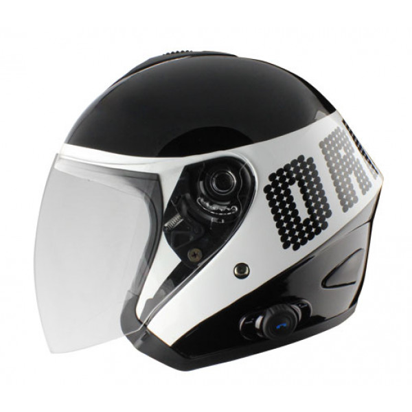 Casco jet Origine Tornado Disco con interfono Blink G2 Bianco