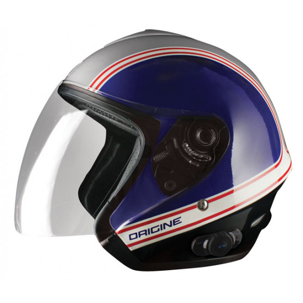 Casco jet Origine Tornado Joe con interfono Blink G2
