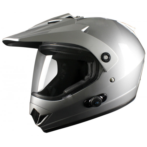 Casco enduro Origine Gladiatore con intefono Blinc G2 Argento