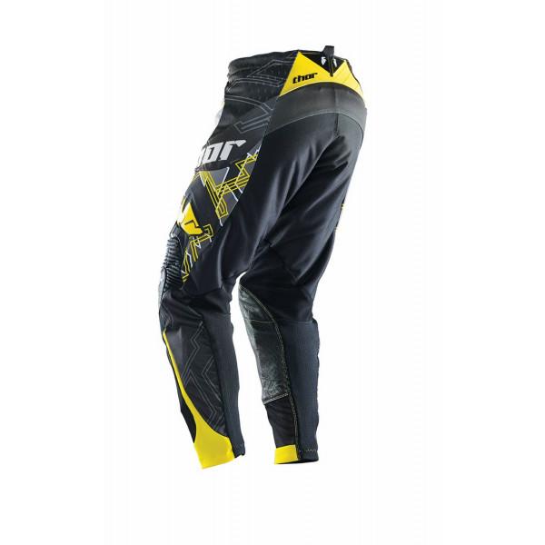 Pantaloni cross Thor Core Fragment nero giallo