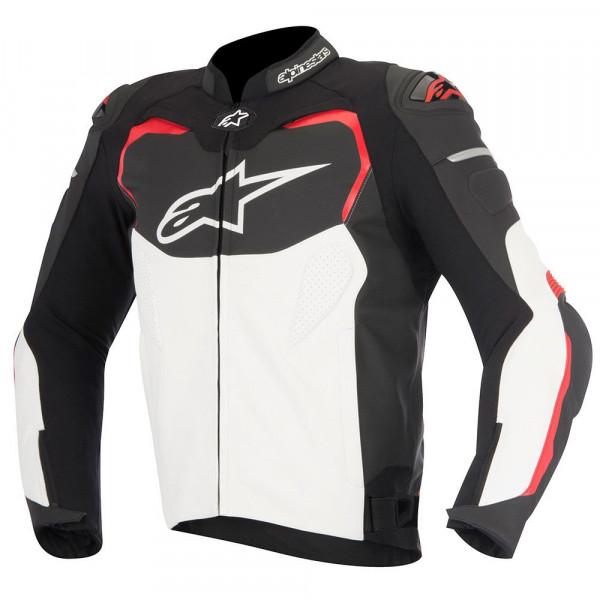 Giacca moto pelle Alpinestars GP PRO nero bianco rossa