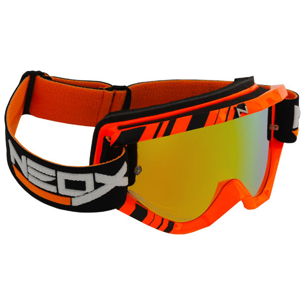 Occhiali cross HZ GMZ3N Neox Stripes Arancio