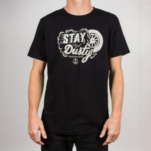 T-shirt Iron e Resin Stay Dusty T-shirt nero