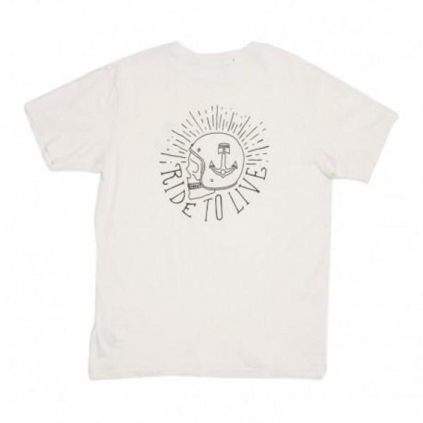 T-Shirt Iron e Resin R-T-L cotone naturale bianco