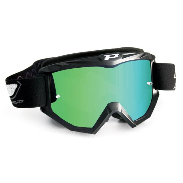 Occhiali cross Progrip con lente a specchio Verde