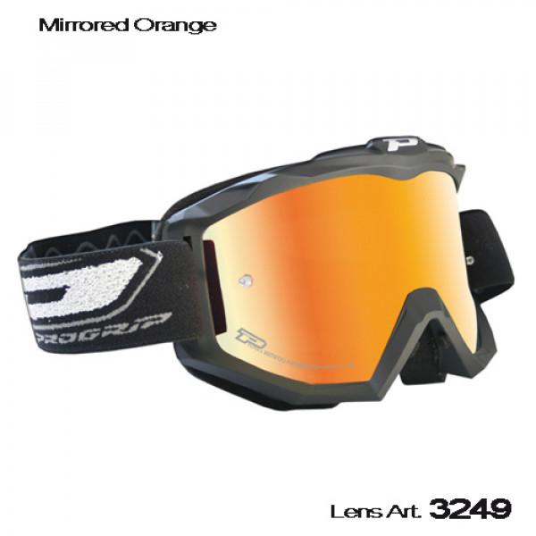 Occhiali cross Progrip Top con lente specchiata Arancio