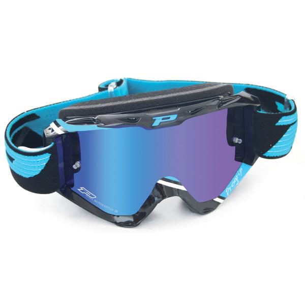 Occhiali cross Progrip Top con lente specchiata Blu