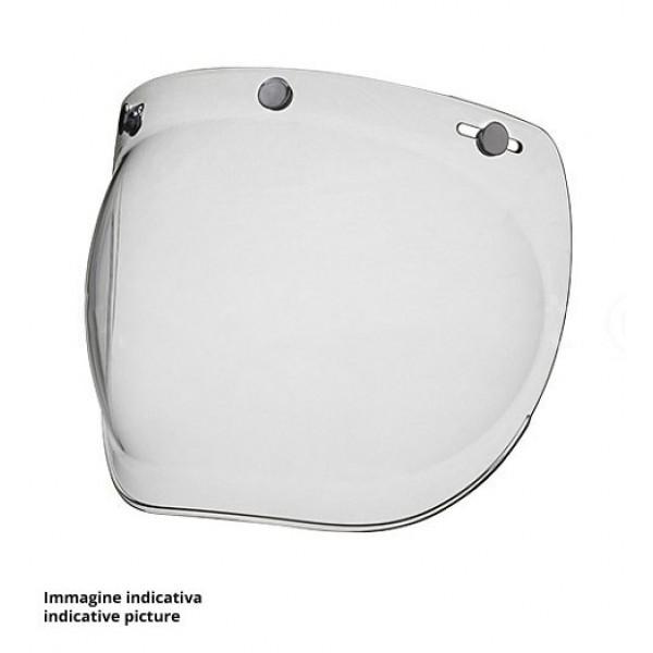 per casco a viso scoperto Visiera per casco da motocicletta a bolla stile retr/ò universale con 3 bottoni ribaltabile