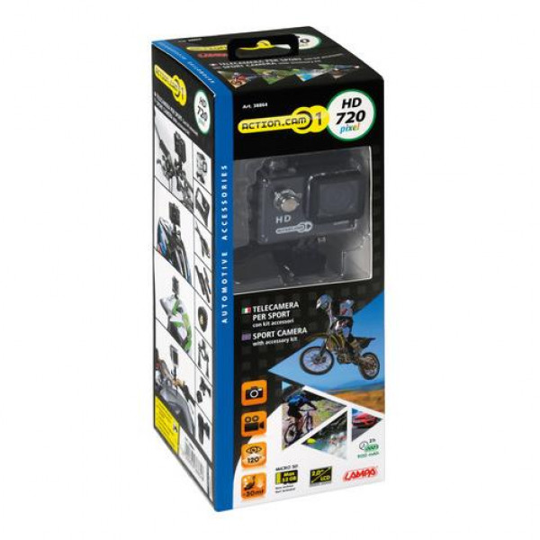 Telecamera Lampa Action-Cam1 720P con Kit accessori