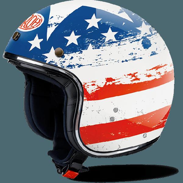 Casco demi-jet Airoh Riot USA lucido