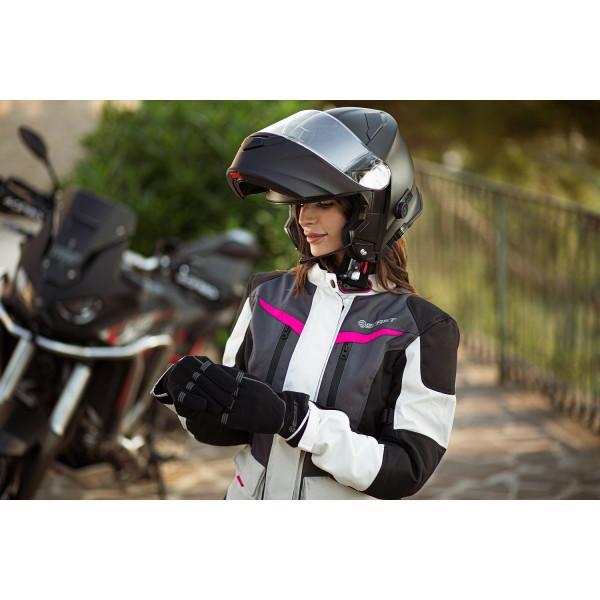 Giacca moto donna Befast BABYLON Lady CE certificata Nero