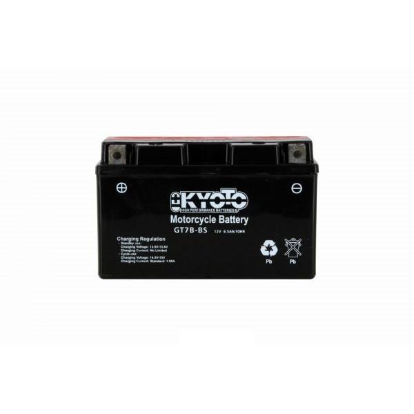 Batteria moto Kyoto Yt7b-bs X6- 12v 6ah - L 150mm W 65mm H 92mm - con acido senza manutenzione