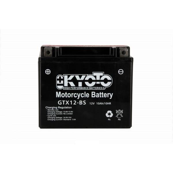 Batteria moto Kyoto Ytx12-bs - 12v 10ah - L 150mm W 87mm H 131mm - con acido senza manutenzione