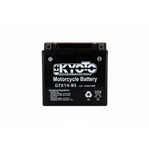 Batteria moto Kyoto Ytx14-bs - 12v 12ah - L 150mm W 87mm H 147mm - con acido senza manutenzione