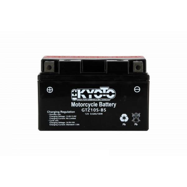 Batteria moto Kyoto Ytz10s-bs X4 - 12v 8.6ah - L 150mm W 87mm H 93mm - con acido senza manutenzione