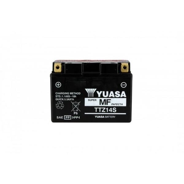 Batteria moto Yuasa TTZ14-S X5 AGM - 12v 11.2ah - L 150mm W 87mm H 110mm - con acido
