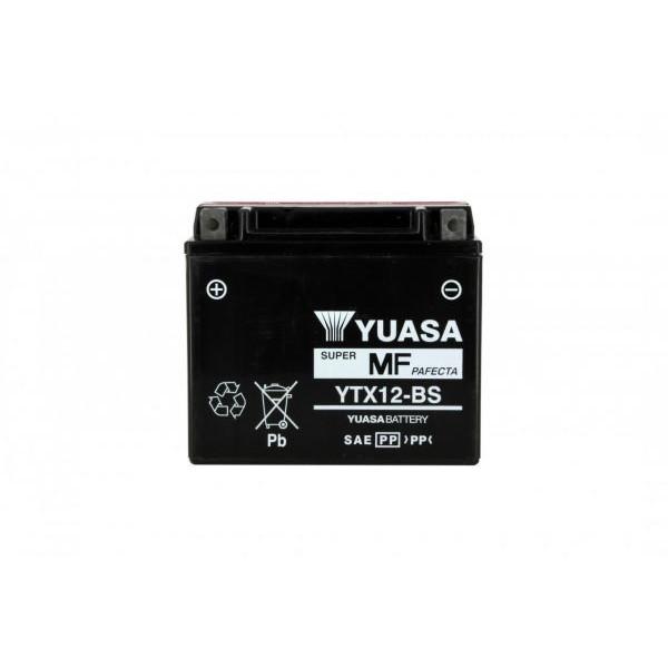 Batteria moto Yuasa Ytx12-bs X4 - 12v 10ah - L 150mm W 87mm H 131mm - con acido