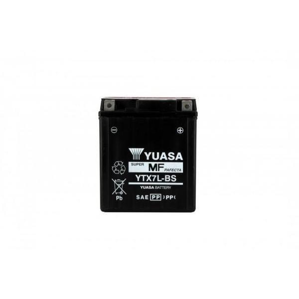 Batteria moto Yuasa Ytx7l-bs X6 - 12v 6ah - L 114mm W 71mm H 131mm - con acido