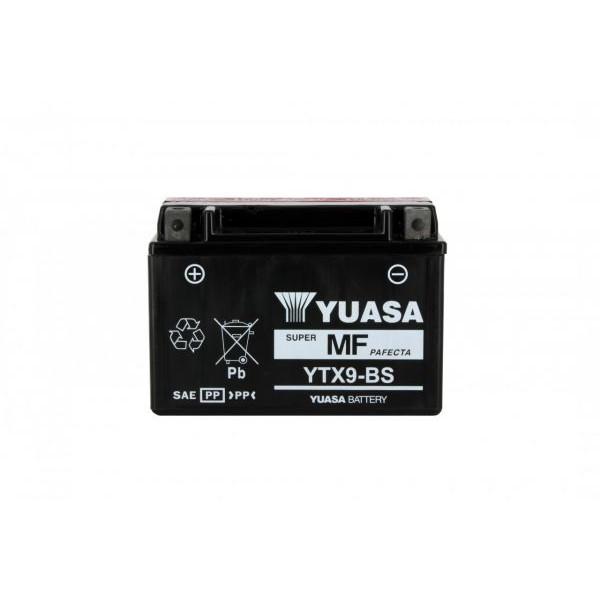 Batteria moto Yuasa Ytx9-bs X6 - 12v 8ah - L 150mm W 87mm H 105mm - con acido