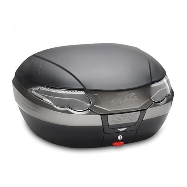 Bauletto Monokey Kappa K56 56 lt nero con catadiottri fumè