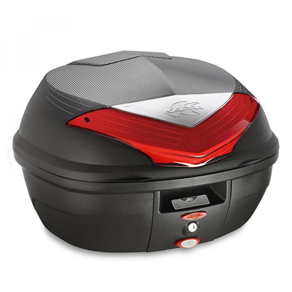 Bauletto Monolock Kappa K355 35lt nero con catadriotti rossi