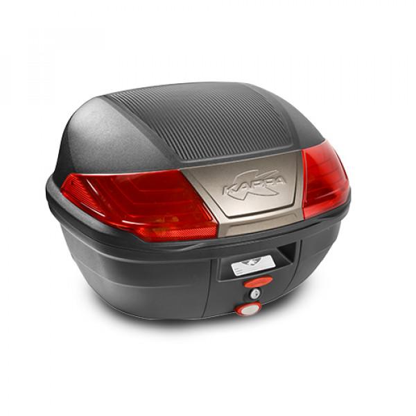 Bauletto Monolock Kappa K400 40lt nero con catadriotti rossi