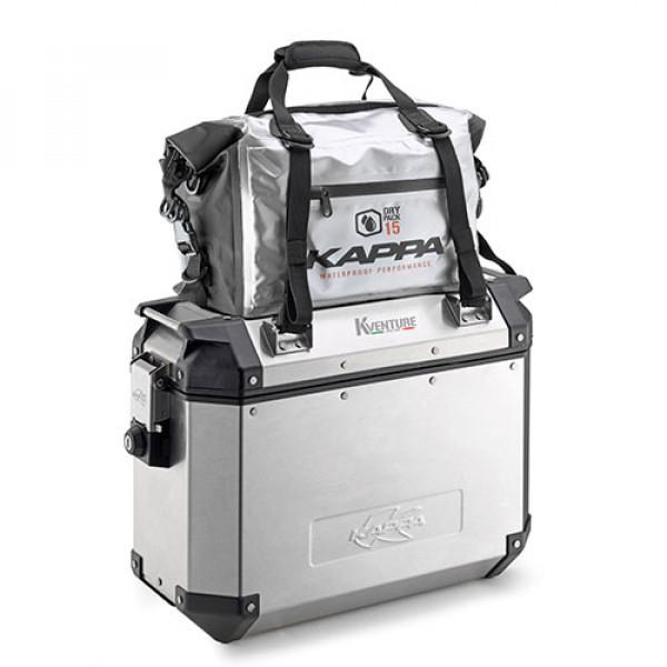 Borsa cargo Kappa WA406 impermeabile 15 litri argento