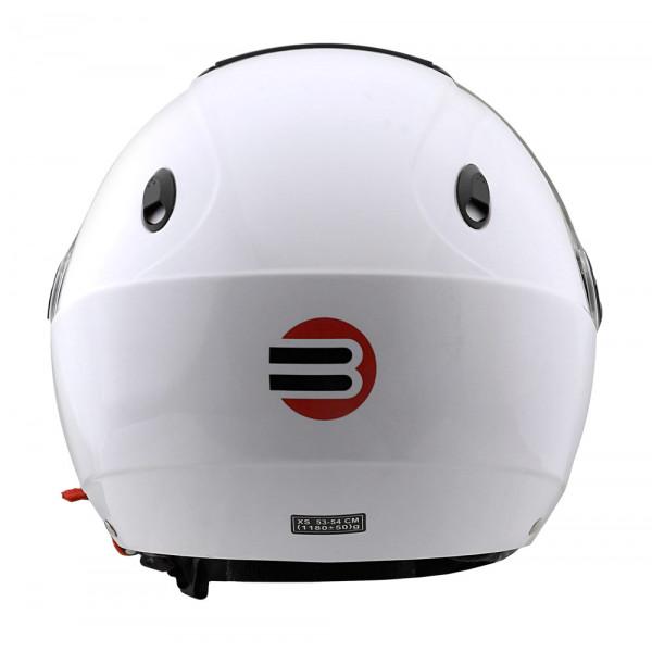 Casco demi-jet Befast Midi J bianco lucido