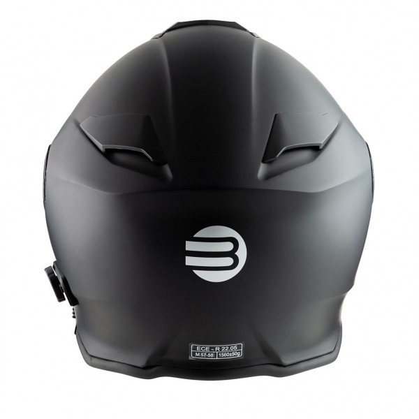 Casco modulare Befast Connection con interfono integrato Nero opaco