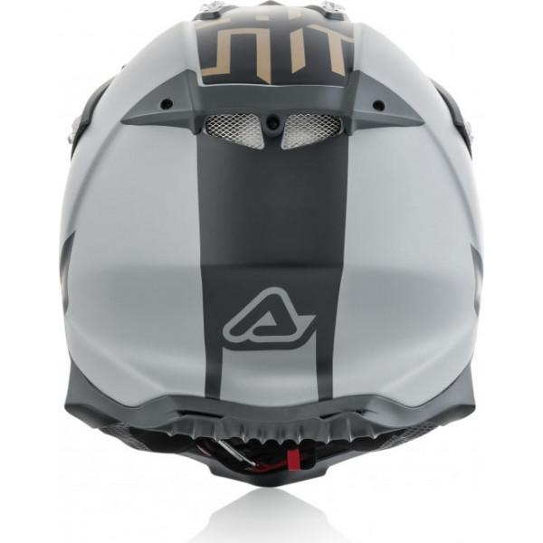 Casco cross Acerbis IMPACT X-RACER VTR in fibra Grigio Oro