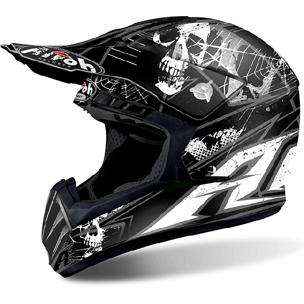 Casco cross Airoh Switch Scary nero opaco