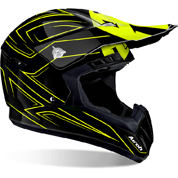 Casco cross Airoh Switch Spacer giallo lucido