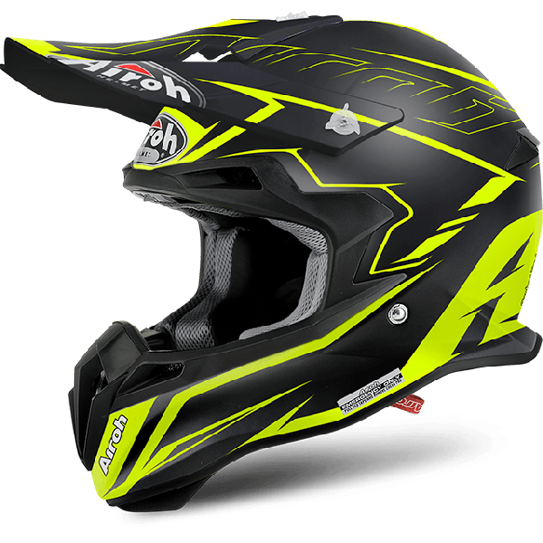 Casco cross Airoh Terminator 2.1 S Slim giallo opaco