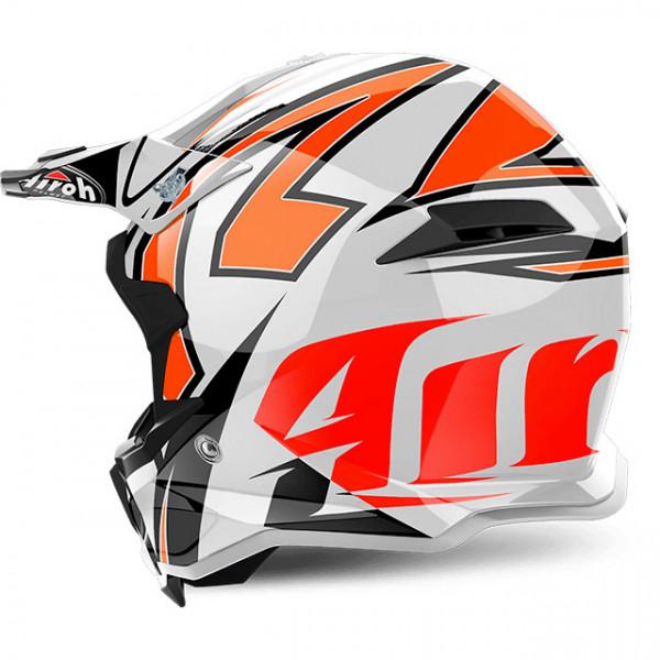 Casco cross Airoh Terminator Open Vision Shock in fibra arancione lucido