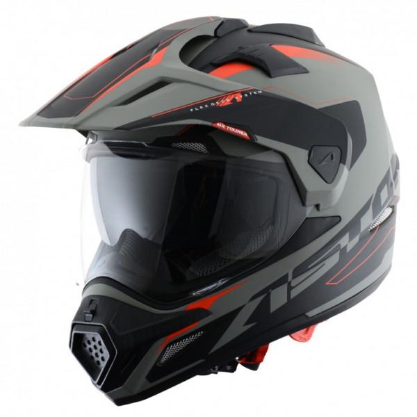 Casco cross Astone Helmets Tourer Grigio Nero