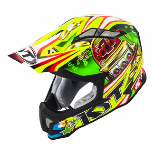 Casco cross KYT Strike Eagle Roulette in fibra