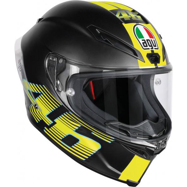 Casco integrale Agv racing Corsa R Multi V46 nero opaco Pinlock
