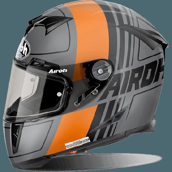 Casco integrale Airoh Gp 500 Pinlock Scrape arancio opaco