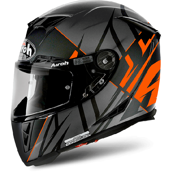 Casco integrale Airoh Gp 500 Pinlock Sectors arancio opaco
