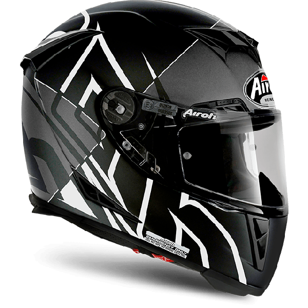 Casco integrale Airoh Gp 500 Pinlock Sectors bianco opaco
