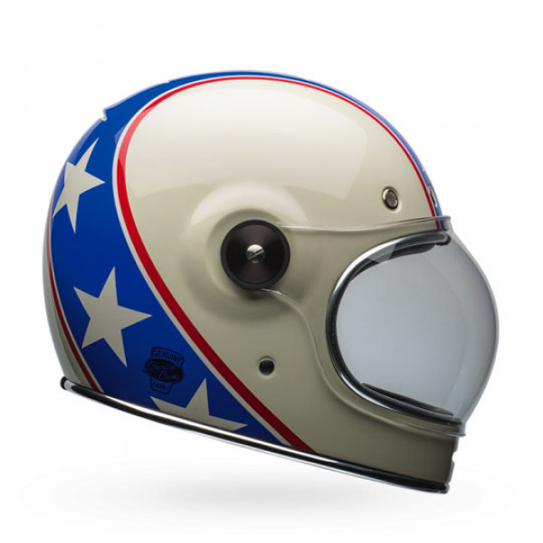Casco integrale Bell Bullit Chemical Candy in fibra blu bianco