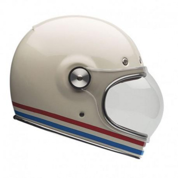 Casco integrale BELL BULLIT STRIPES in fibra bianco perla