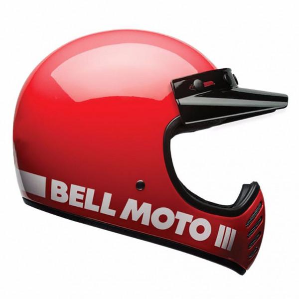 Casco integrale Bell Moto-3 in fibra Rosso